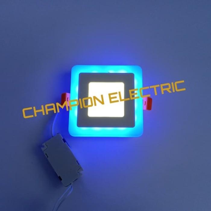 Foto Produk Lampu Downlight 2 Warna LED Panel 3W + 3 Watt Kotak - Model A dari Champion Electric