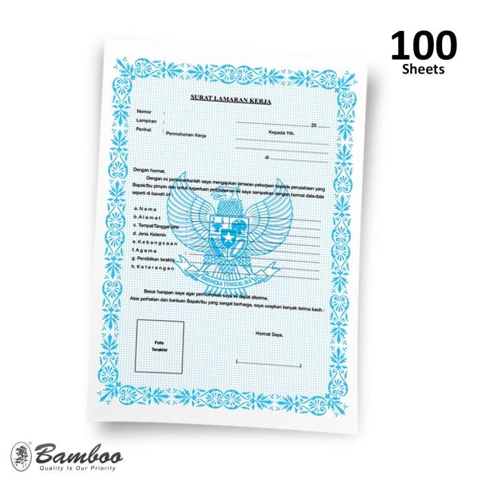 Jual Blanko Surat Lamaran Kerja 1 Pak Isi 100 Lbr Kota Tangerang Bamboo Stationery Os Tokopedia