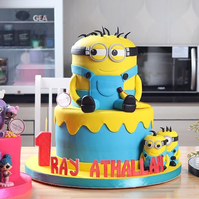 Jual Minion Cake Kue Ulang Tahun Mohon Baca Keterangan 30 C 20 D Jakarta Barat Stelete Cake Tokopedia