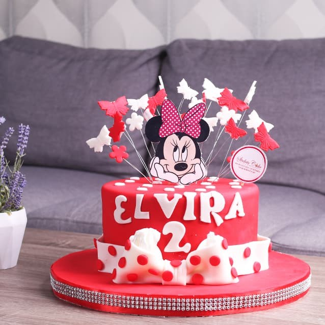 Jual Kue Ulang Tahun Minnie Mouse Diameter 20 Cm Mohon Baca Keterangan Jakarta Barat Stelete Cake Tokopedia