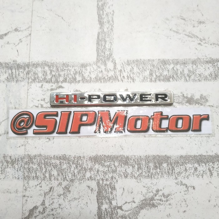 Foto Produk Emblem Logo Hi Power Mitsubishi Pajero Sports dari SIPMotor
