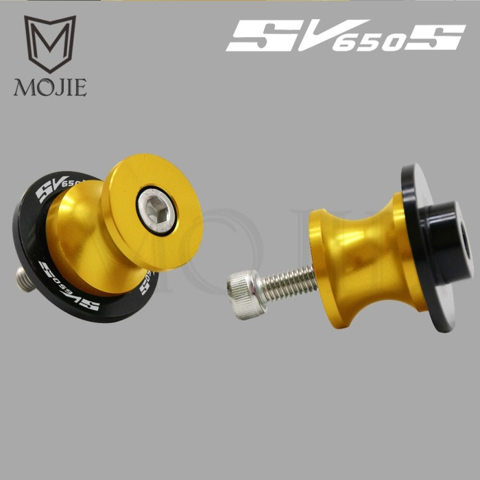 Blue 2 Pieces 6MM Motorcycle CNC Swing Arm Spools For Yamaha FZ01 FZ03 FZ09 FZ10 FZ125 MT01 MT03 MT09 MT10 MT125.