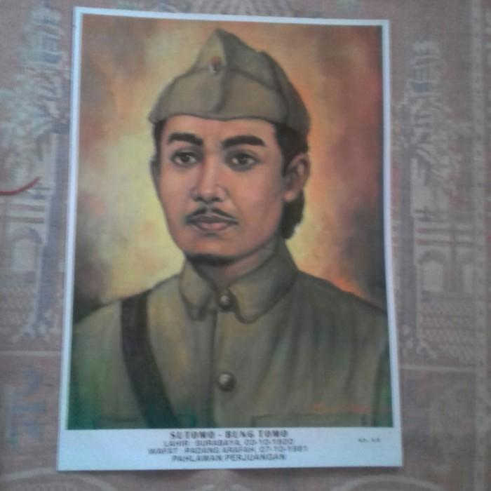 Foto Produk poster pahlawan sutomo bung tomo dari rumasa