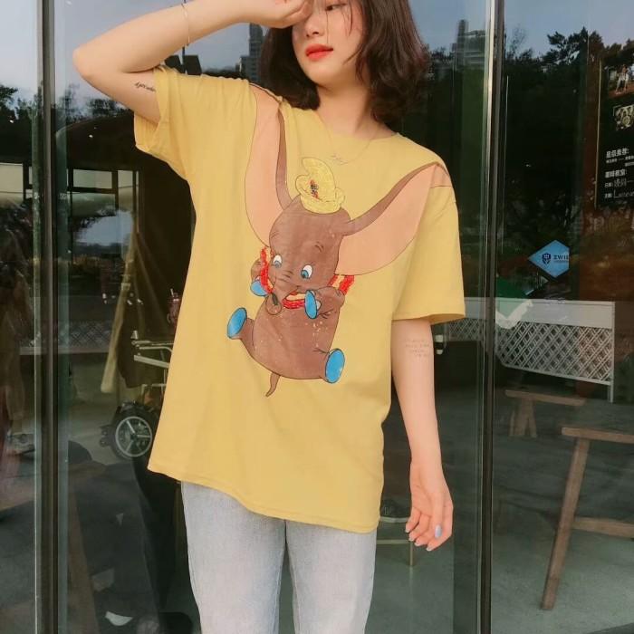 Foto Produk dumbo tshirt import/kaos dumbo/t-shirt wanita/kaos casual - Kuning dari ChooseMee