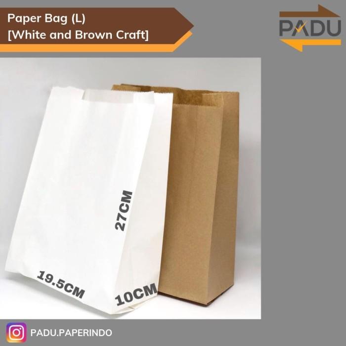 Foto Produk Paper Bag / Kantong Kertas (L) - Kantong Roti / Fried Chicken / Snack - Cokelat dari Padu.Paperindo