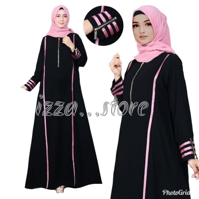 Jual Abaya Arab Saudi Motif Pink Gamis Hitam Elegan Dress Syar I Muslimah 9 Kab Pasuruan H454n Store Tokopedia