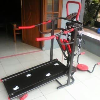 harga Treadmill manual 6 fungsi biru tl004 murah bisa cod Tokopedia.com