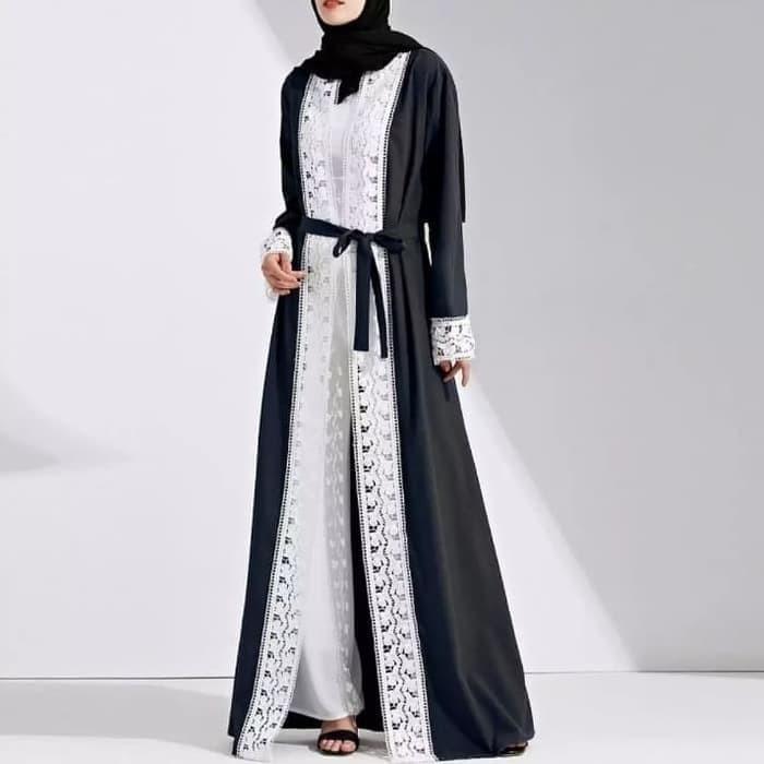 Jual Abaya Muslim Wanita Arab Jilbab Islam Lengan Panjang Kaftan Gaun Jubah Kota Medan Xoxie Tokopedia