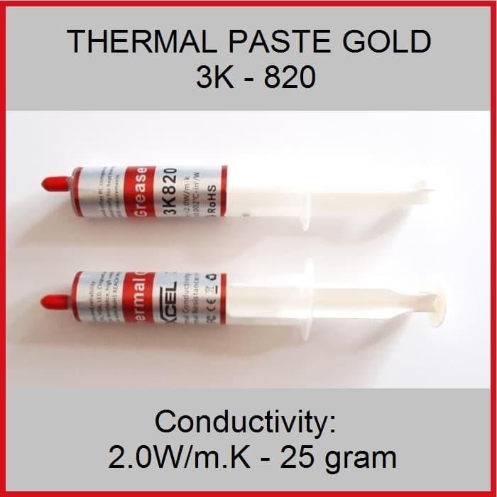 harga Thermal paste gold suntik 2.0w/mk - 25gram Tokopedia.com