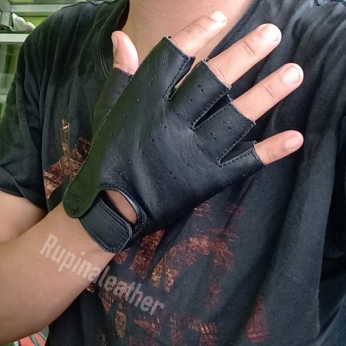 harga Sarung tangan motor kulit asli half japstyle