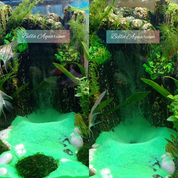 Jual Tebing Air Terjun Mini Aquarium Aquascape 19cm Bonus ...