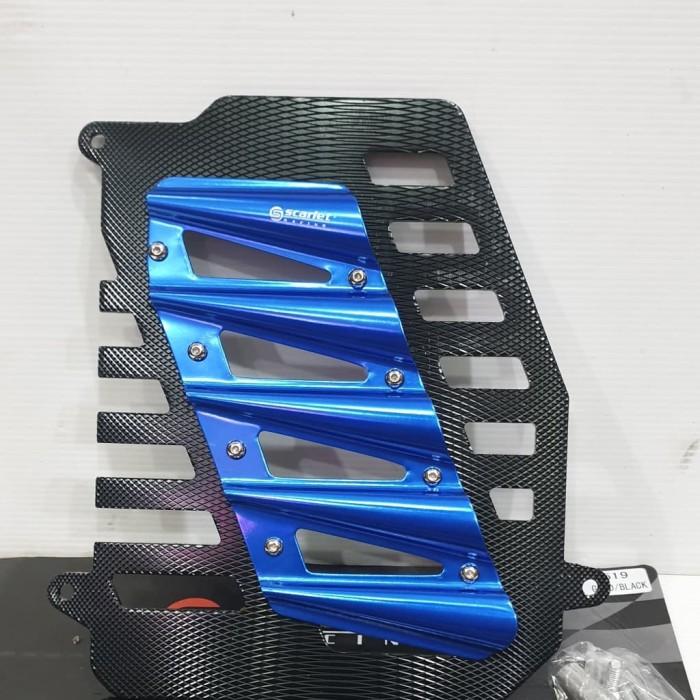 Foto Produk Cover Radiator Tutup Radiator Nmax Aerox Lexi Blue Scarlet dari sein motorsport