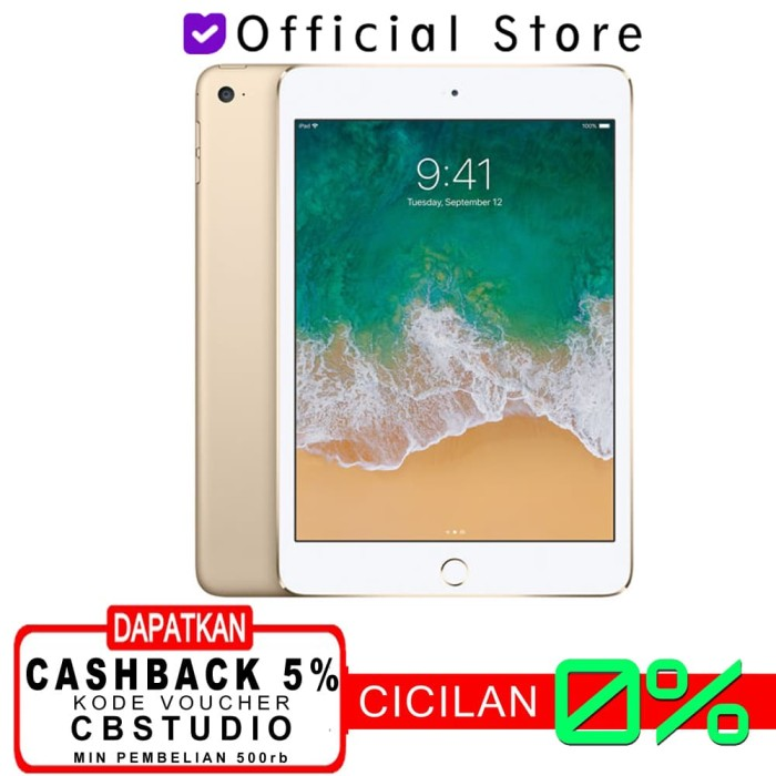 harga Apple ipad mini 4 128 gb 4g wifi + cellular garansi 1 tahun - gray Tokopedia.com