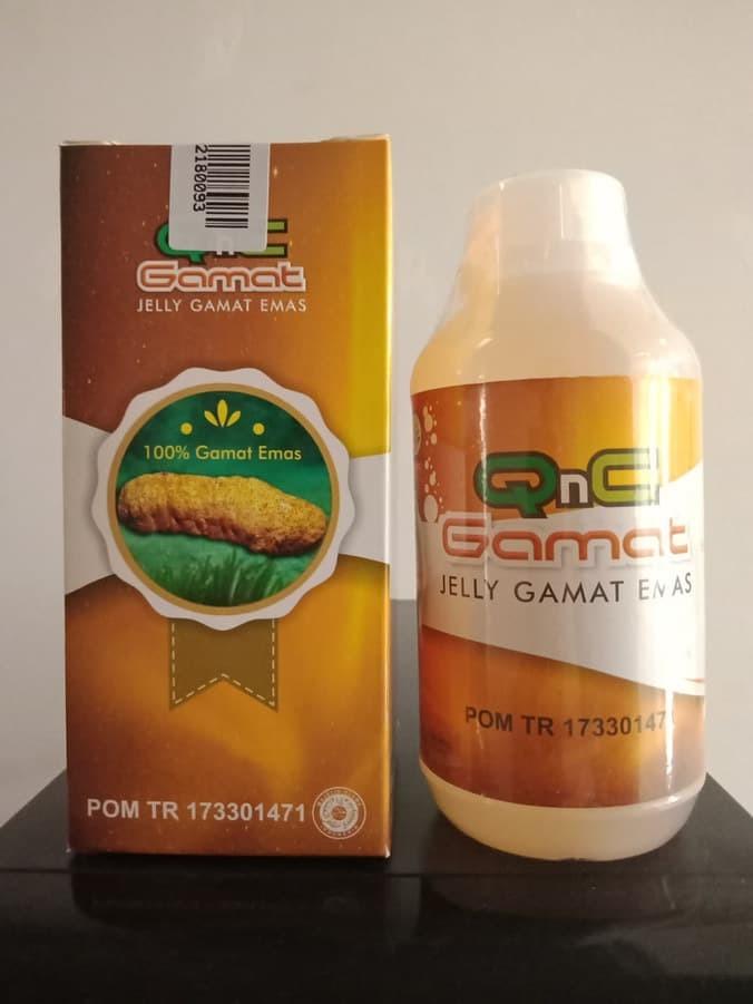 Foto Produk Jelly Gamat QnC 300 Ml   Jelly Gamat Gold G   Sea Cucumber Gold dari Dijeksi Herbal