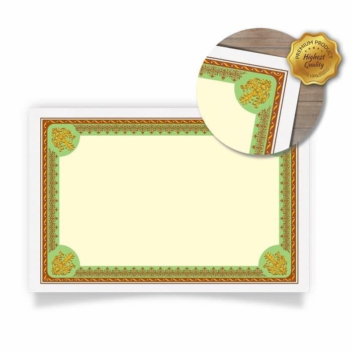 harga Blanko kertas piagam sertifikat kartu tik folio green [50 sheets] Tokopedia.com
