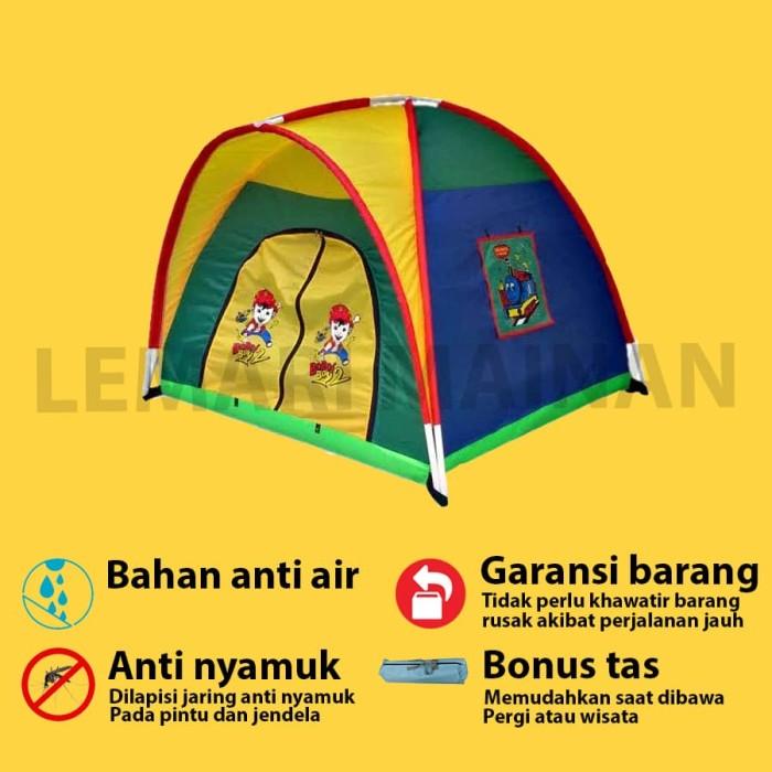 Foto Produk TENDA ANAK CAMP TENT LOKAL 120X120CM TEN-0154 dari lemari mainan