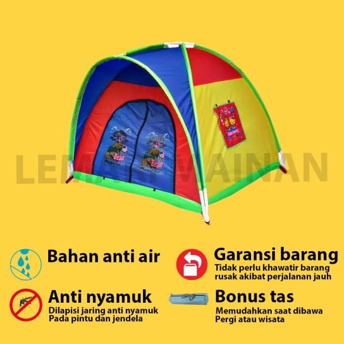 Foto Produk TENDA ANAK LOKAL CAMP TENT LOKAL 100X100CM TEN-0144 dari lemari mainan