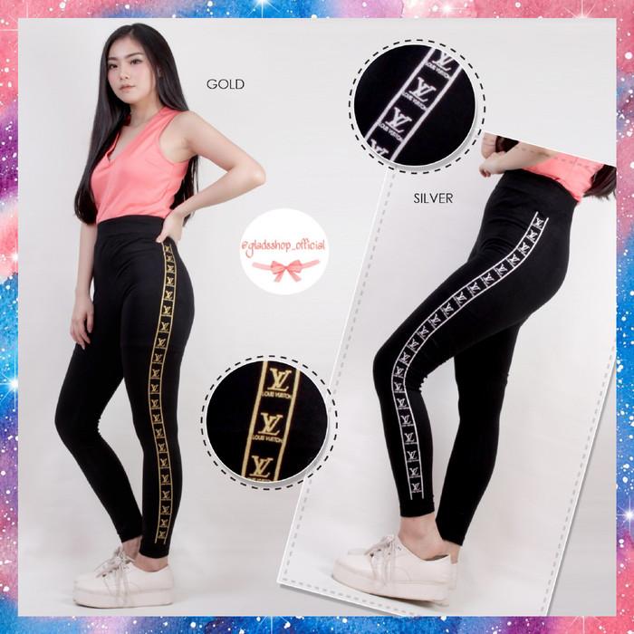 Jual Celana Legging Lv Import Celana Senam Wanita Legging Olahraga Terlaris Gold Jakarta Barat Glads Shop Tokopedia