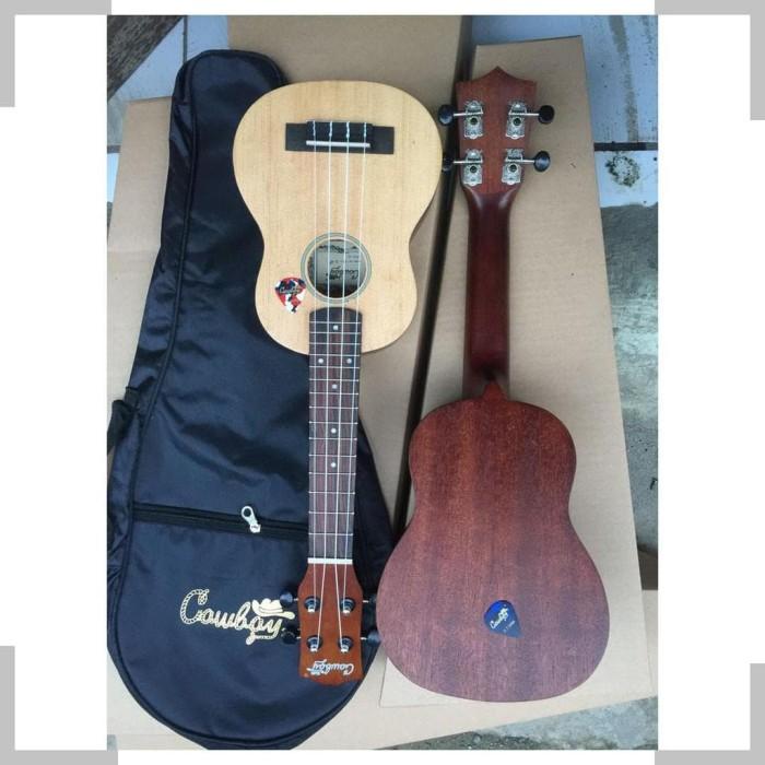 Foto Produk Alat Musik GITAR COWBOY UKULELE CONCERT 23 FREE SENAR CADANGAN dan dari AKSHAY 00011
