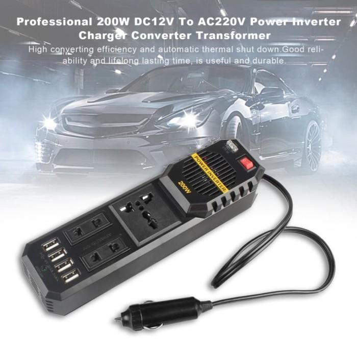 harga Car charger 200w 12v power inverter adaptor converter - charger mobil Tokopedia.com