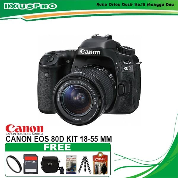 harga Canon eos 80d kit 18-55 is stm / kamera canon eos 80 d kit Tokopedia.com