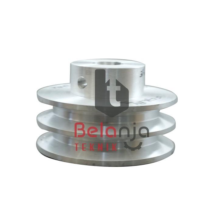Foto Produk Pully Aluminium A 2 Jalur 3 Inchi As 19 Mm dari Belanja Teknik
