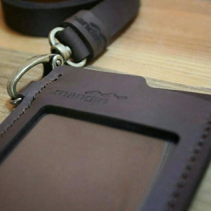 harga Id card holder kulit custom nama & logo instansi name tag kulit custom Tokopedia.com