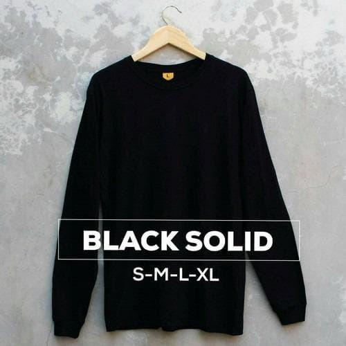 Foto Produk Longsleeve Black solid dari Donalisa baju kaos polos
