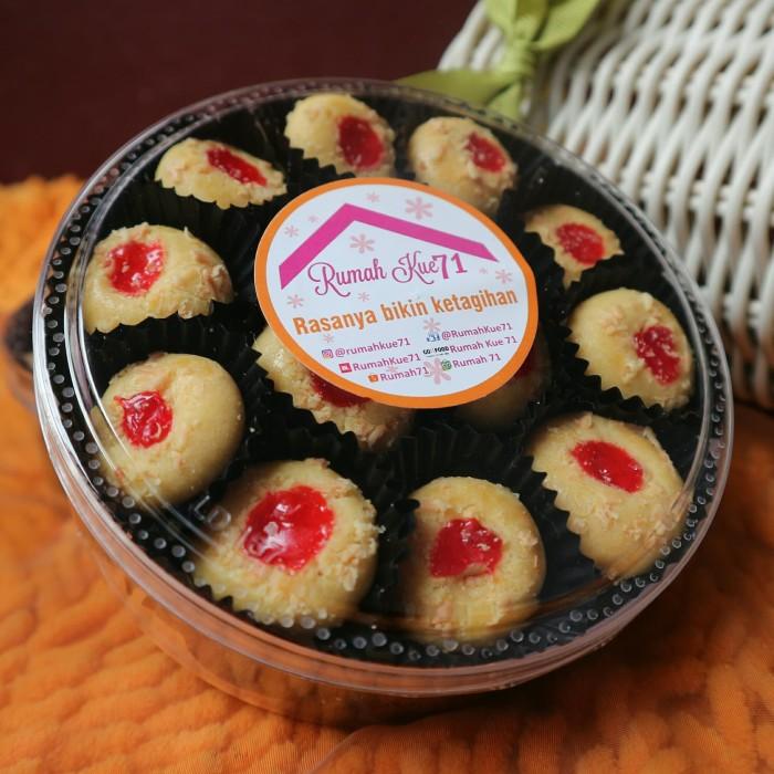Jual Strawberry Cheese Cookies Kue Kering Lebaran Kemasan Toples