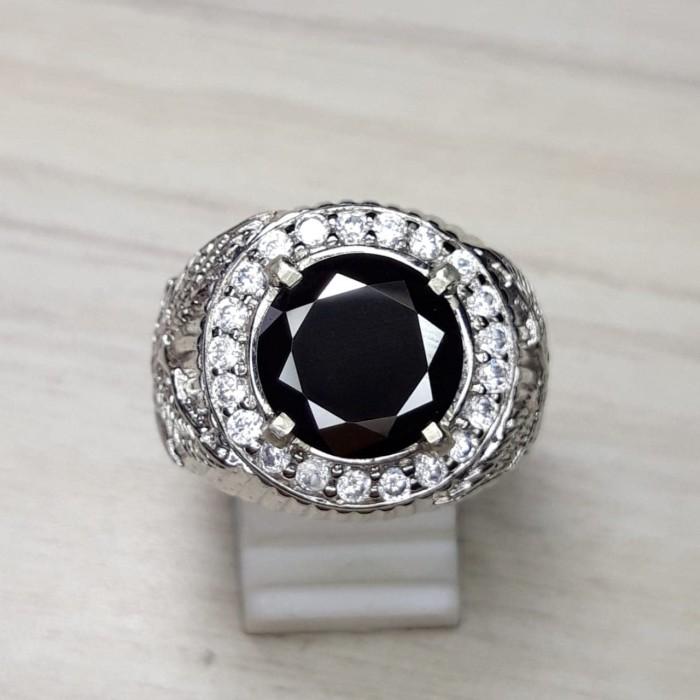 harga Cincin batu natural black moissanite diamond hardness 10 skala mohs go Tokopedia.com