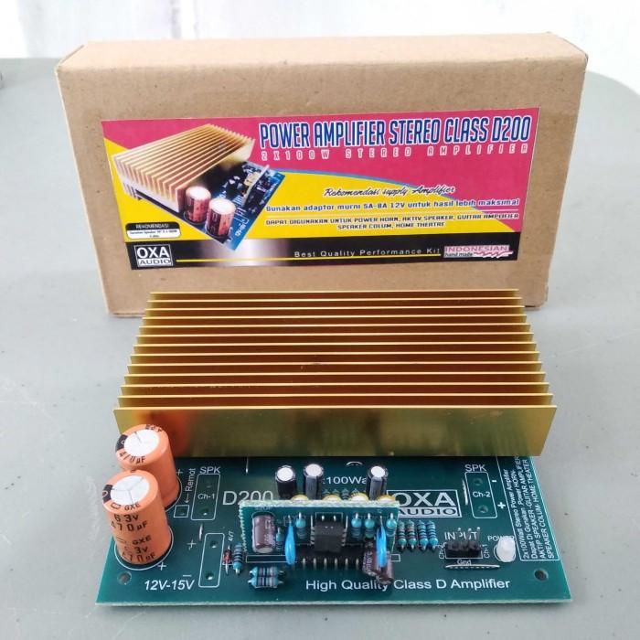 Jual KIT 200W STEREO POWER AMPLIFIER CLASS D 2X100 OXA - DKI Jakarta -  Boutique Electronics | Tokopedia