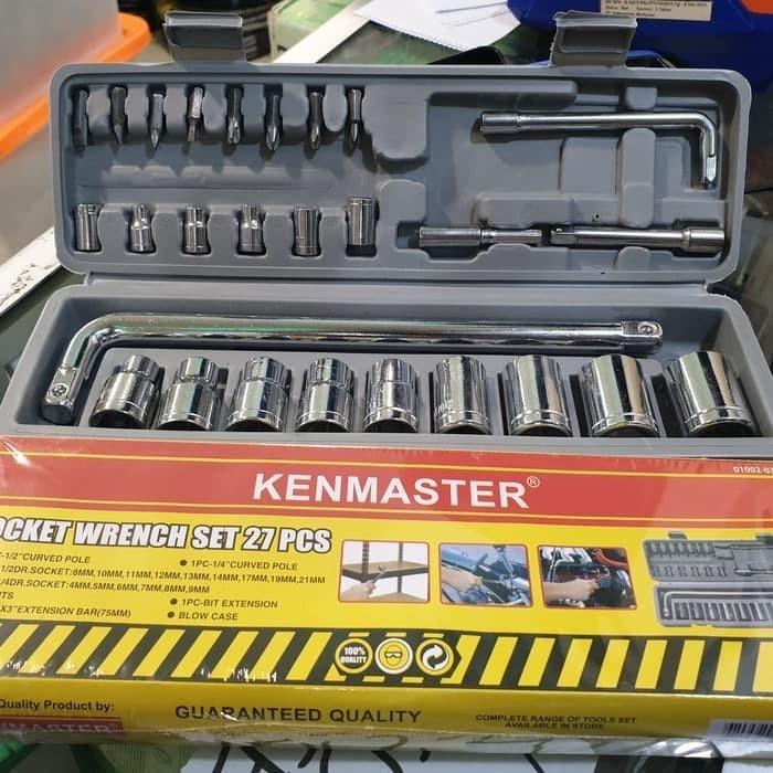 Foto Produk KUNCI SOK SET KENMASTER 27 PCS KUNCI SHOCK SER SOCKET SOKET SET 27PCS dari taktikshop