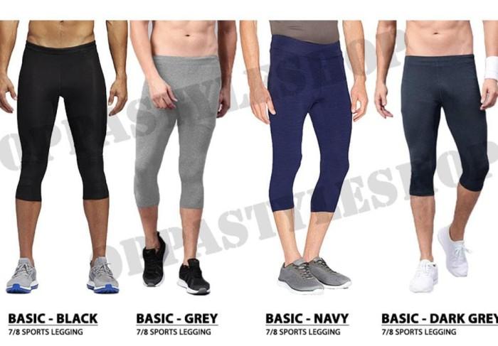 Jual Basic 7per8 Legging Pria Celana Legging Selutut Training Sport Premium Jakarta Pusat Wandaw19 Tokopedia