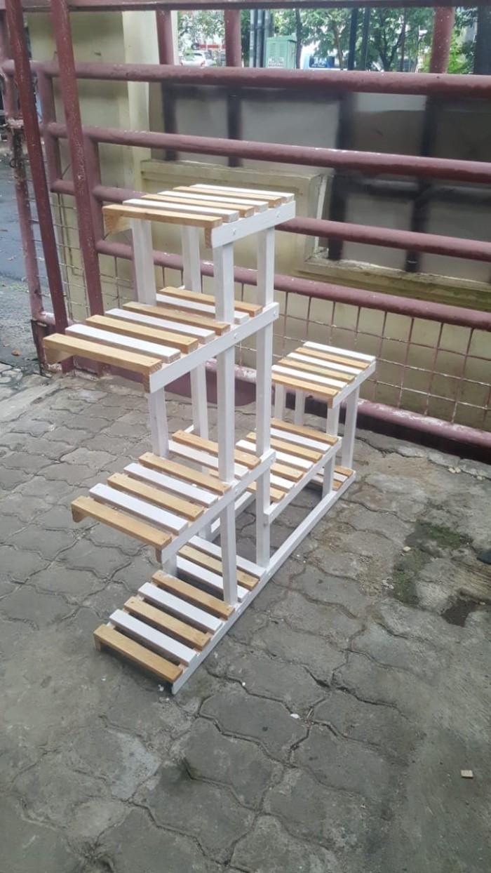 Jual Rak Kayu Sepatu Sandal Pot Bunga 3 Tingkat Kota Bogor SOHO Stuppa Network