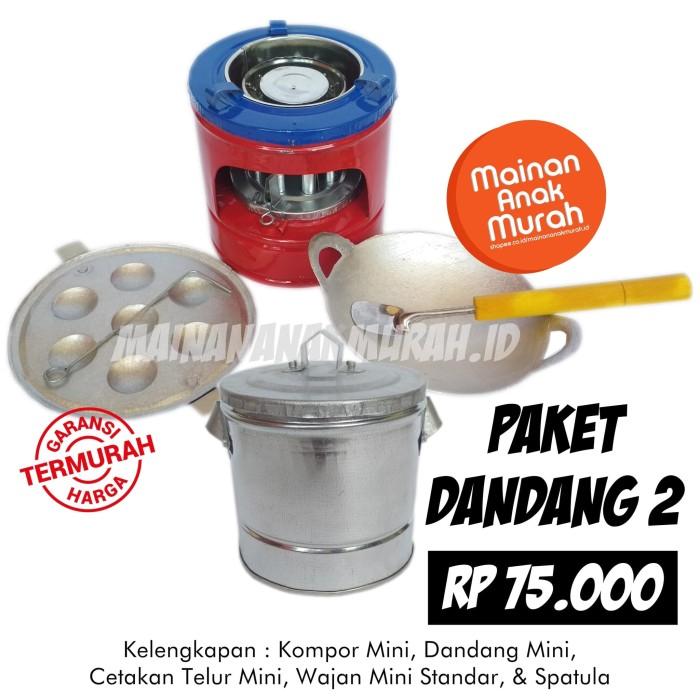 Foto Produk Paket Dandang 2 Mainan Masak Masakan Kompor Mainan Mini Jadul dari MAINANANAKMURAH.ID