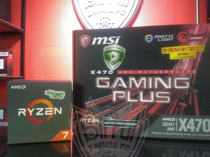 Paket Board Processor AMD Ryzen 7 2700 Feat MSI X470 Gaming Plus