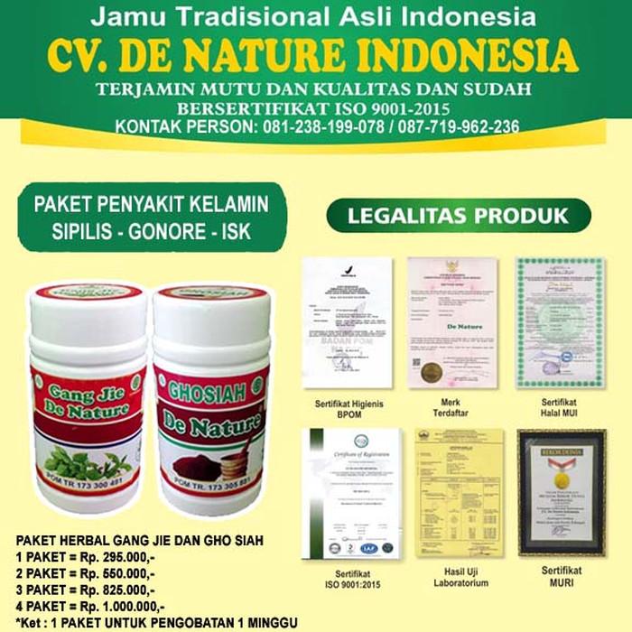 Foto Produk Obat Sipilis Gonore Kencing Nanah Herbal De Nature Original dari Toko De Nature Ampuh