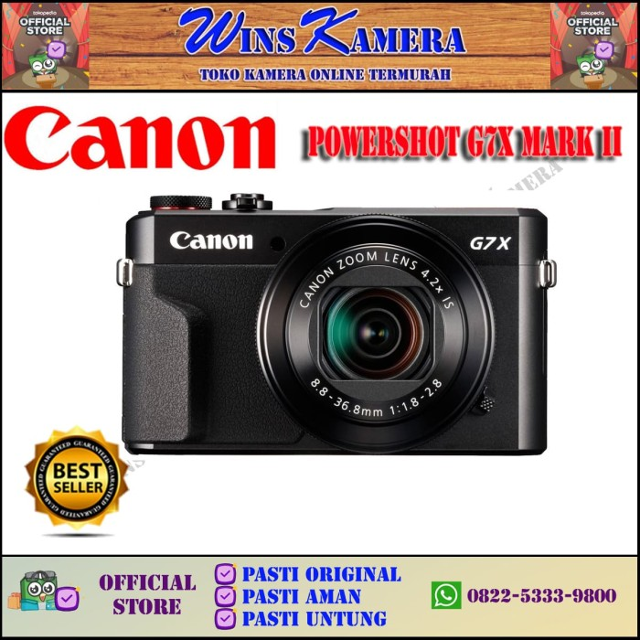 harga Canon g7x mark ii - black - prosummer - resmi Tokopedia.com