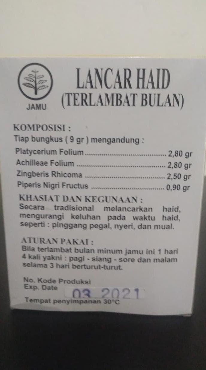 Jual Dijual Jamu Lancar Haid Nanas Merah 1 Kotak Isi 10 Sachet Stok Jakarta Barat Herwindaag Shop