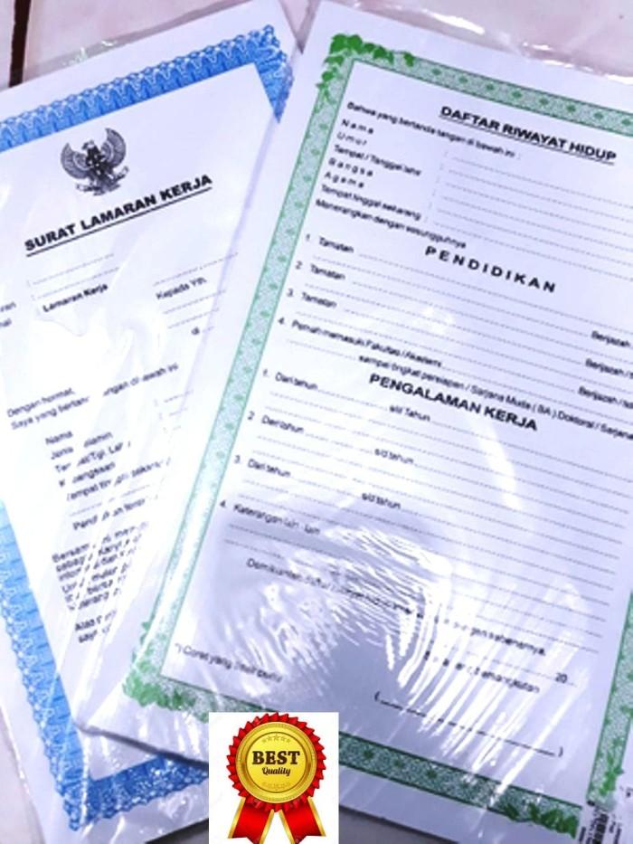 Jual Grosir Surat Lamaran Kerja Blangko Garuda Serta Daftar Riwayat Hidup Kabciamis Jawaberkah Tokopedia