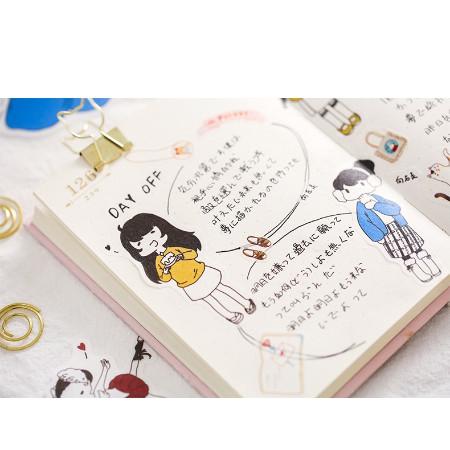 Jual Sticker Zaomo Lovely Girl Untuk Scrapbookplannersurat Menyurat Biru Dki Jakarta Bogubogushop Tokopedia