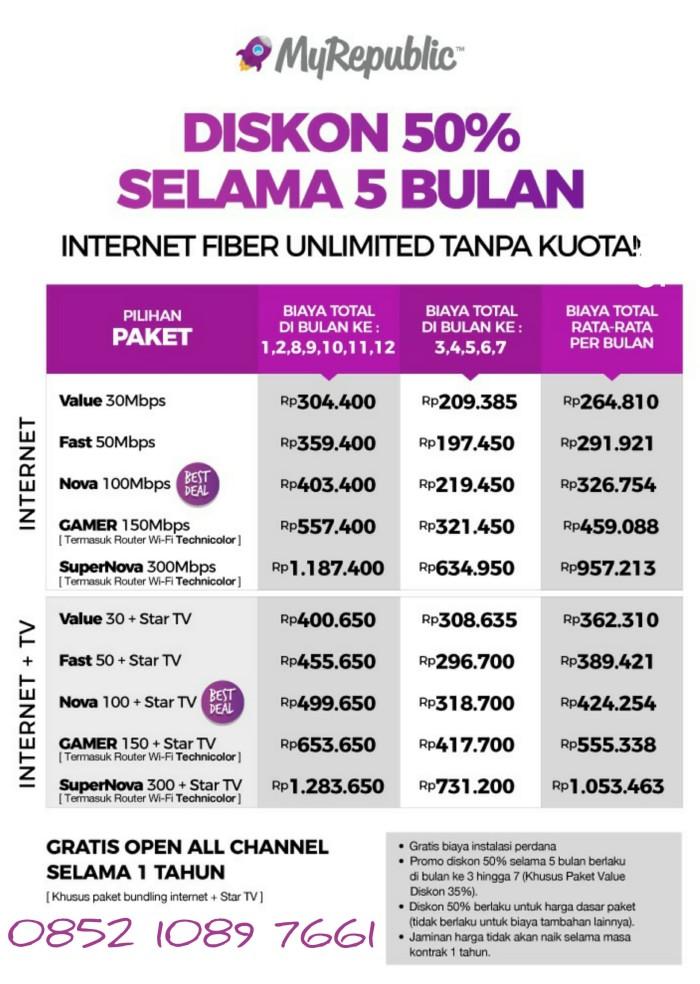 Jual Gratis Pasang Free Trial 7 Hari Wifi Unlimited Internet Myrepublic Merah Kota Tangerang Toko My Republic Tokopedia