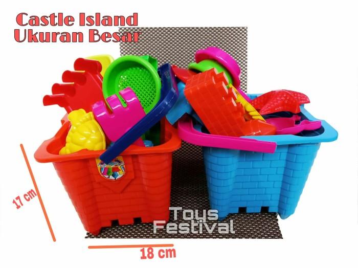 Foto Produk Mainan ember cetak cetakan pasir - Castle Island - Warna Laki dari Toys Festival