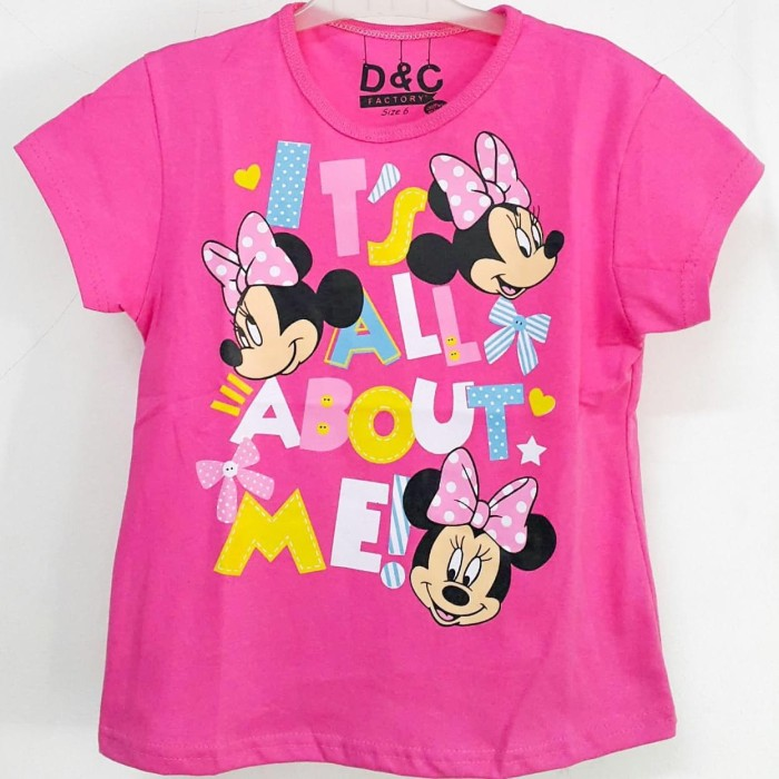 Foto Produk KAOS ANAK SIZE 1-6 MINNIE MOUSE PINK FANTA IT'S ALL ABOUT ME dari MAYA FINKA