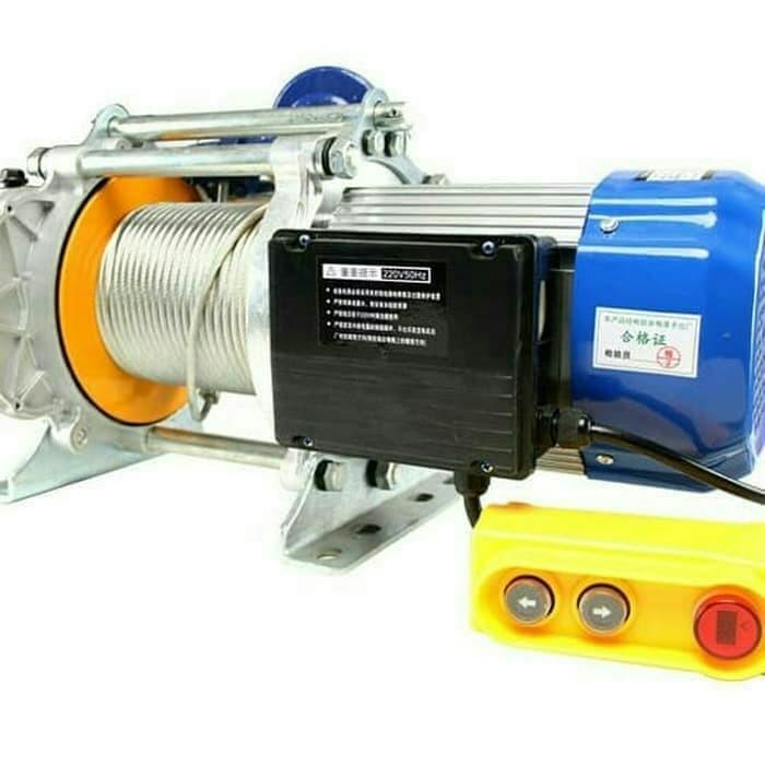 harga Electric winch hoist 1200 seling 20 meter katrol elektrik heavy duty Tokopedia.com