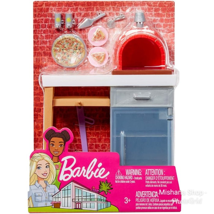 harga Furniture boneka barbie mattel brick oven pizza outdoor playset Tokopedia.com