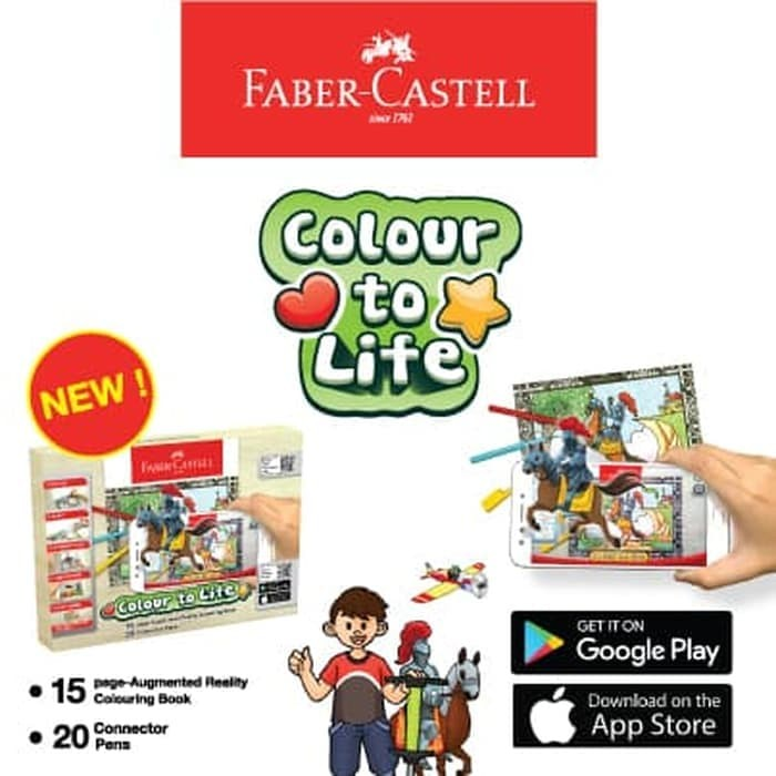 Foto Produk Faber Castell Colour To Life Game Color Connector Pens Colouring Book dari Sentral Stationery