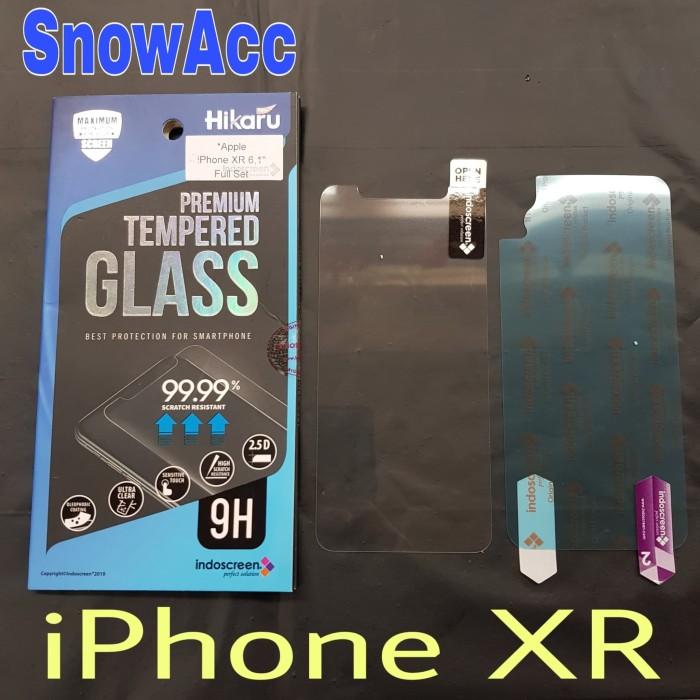 Foto Produk Hikaru Anti Gores Tempered Glass iPhone XR free screen belakang dari SnowAcc
