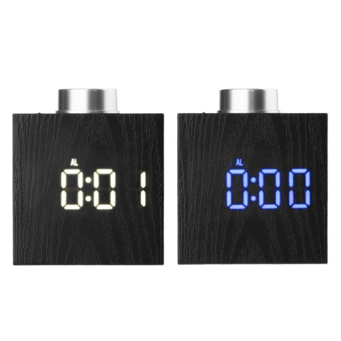 Mini USB Luminescent Fans Time/&Temperature Display Creative Gift with LED Light