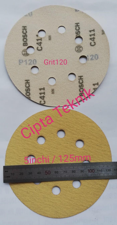 Jual Amplas Velcro 5 Inchi Grit 120 Bosch 8 Lubang Kab Bekasi Cipta Teknik